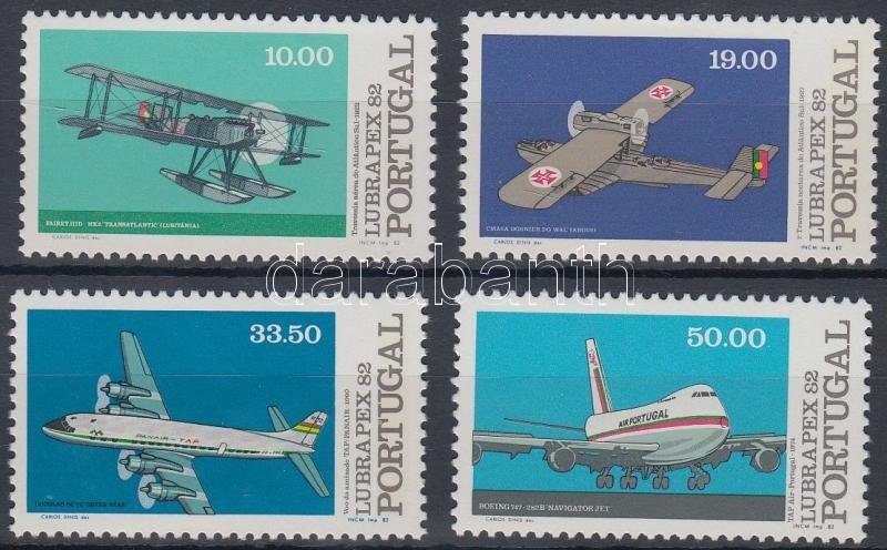 Stamp Exhibition: Airplanes set, Bélyegkiállítás: Repülők sor