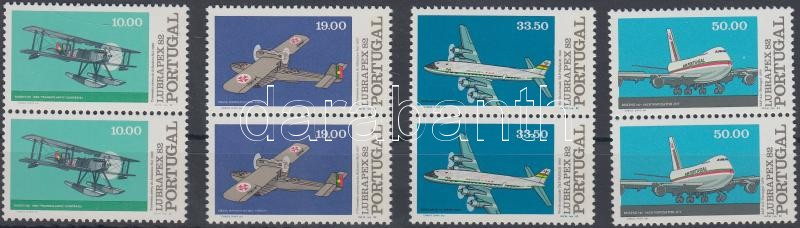 Stamp Exhibition: Airplanes set in pairs, Bélyegkiállítás: Repülők sor párokban