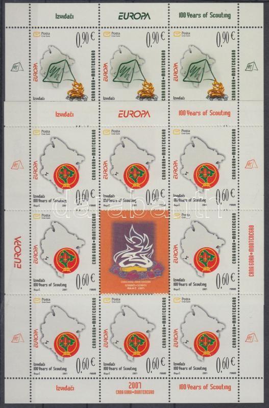 Europa CEPT Centenary of Scout Movement mini sheet set, Europa CEPT 100 éves a cserkészmozgalom kisívsor