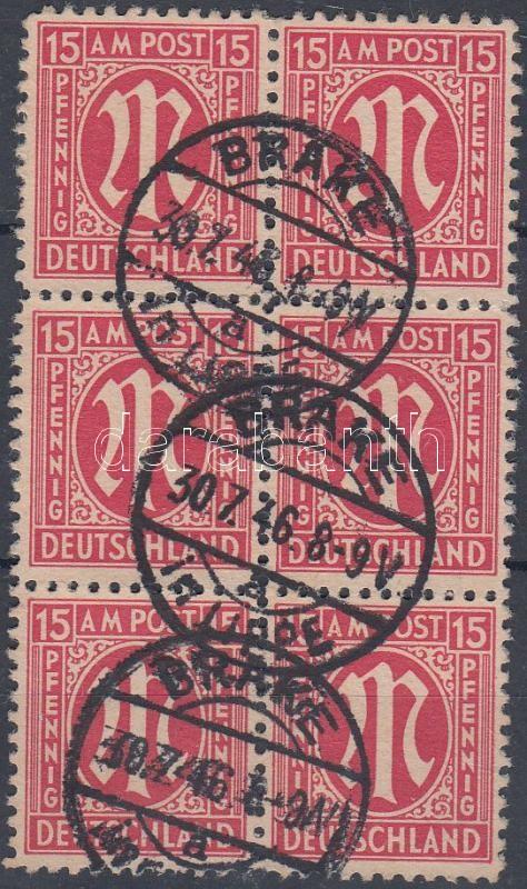 Definitive stamp block of 6, Forgalmi bélyeg hatostömb