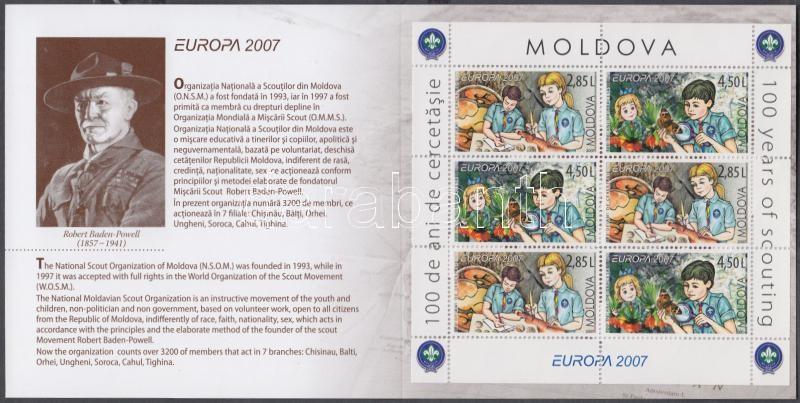 Europa CEPT Centenary of Scout Movement stamp-booklet, Europa CEPT 100 éves a cserkészmozgalom bélyegfüzet