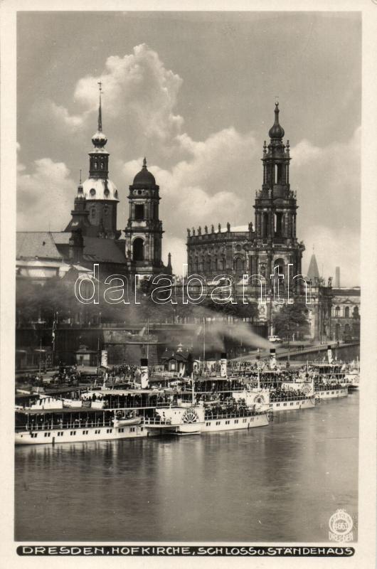 Dresden, Hofkirche, Schloss, Standehaus / church, castle