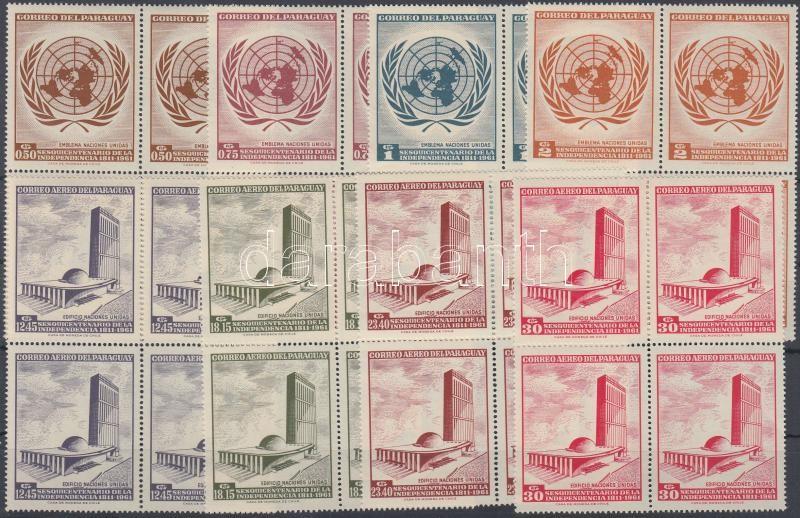 UNO set block of 4, ENSZ sor négyestömbökben