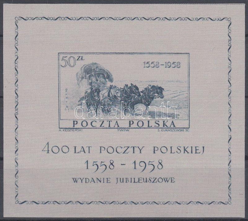 400th anniversary of Polish Post Office block, 400 éves a lengyel posta blokk