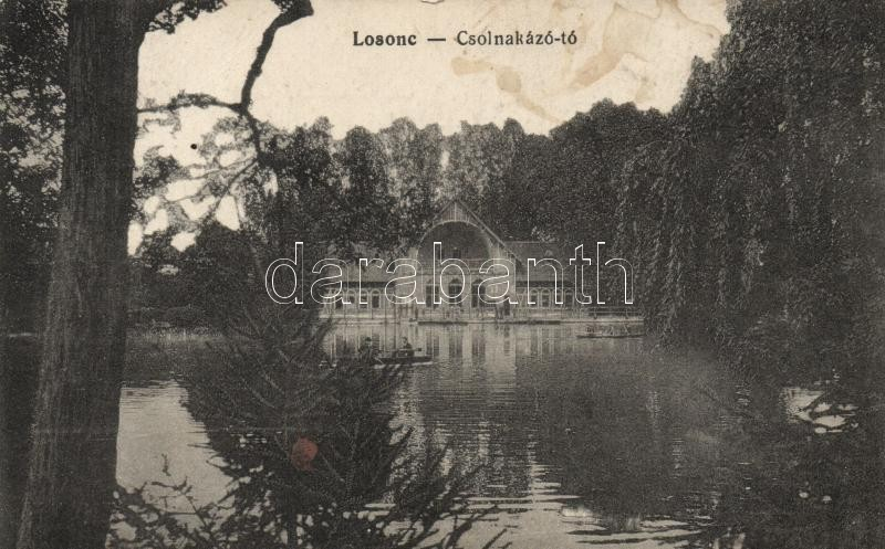 Lucenec, lake, Losonc, Csolnakázó tó, Greiner Simon kiadása