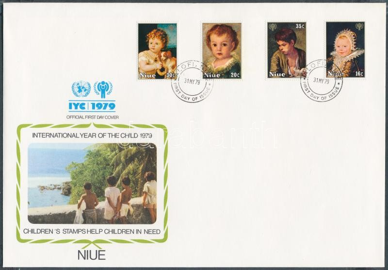 International Children's Year set + block set on 3 FDC, Nemzetközi Gyermekév sor + blokk sor 3 FDC