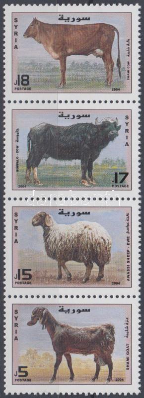 Livestock stripe of 4, Haszonállatok négyescsík