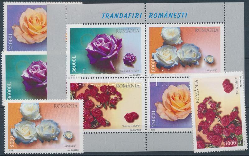 Roses set + block, Rózsák sor + blokk