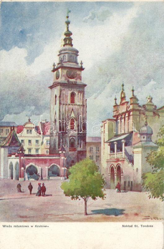 Krakow, Town Hall Tower, artist signed