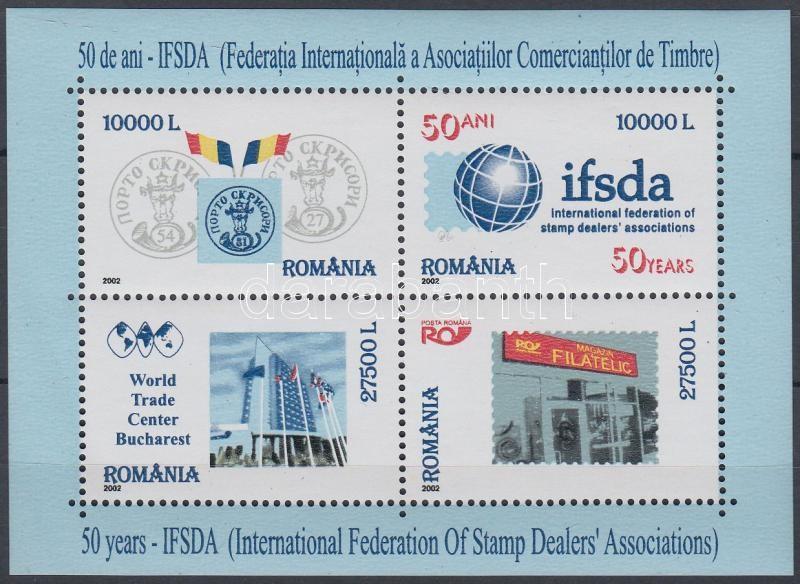 IFSDA blokk, 50 éves a Bélyegkereskedők Nemzetközi Szövetsége (IFSDA) blokk