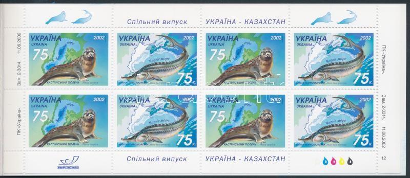 Marine animals stamp-booklet, Tengeri állatok bélyegfüzet