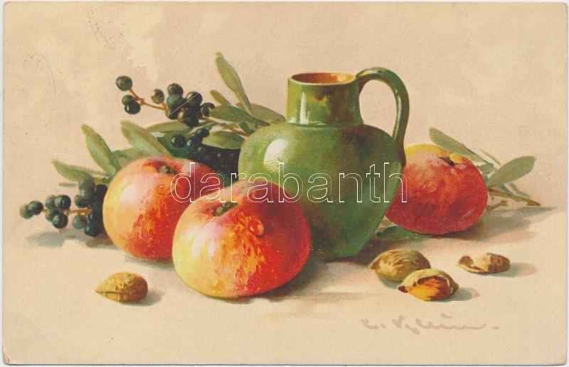 Still life with apples s: C. Klein, Csendélet s: C. Klein