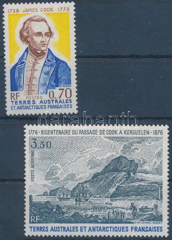 Bicentenary of Kerguelen Island discovery set, 200 éve fedezte fel James Cook a Kerguelen-szigeteket sor