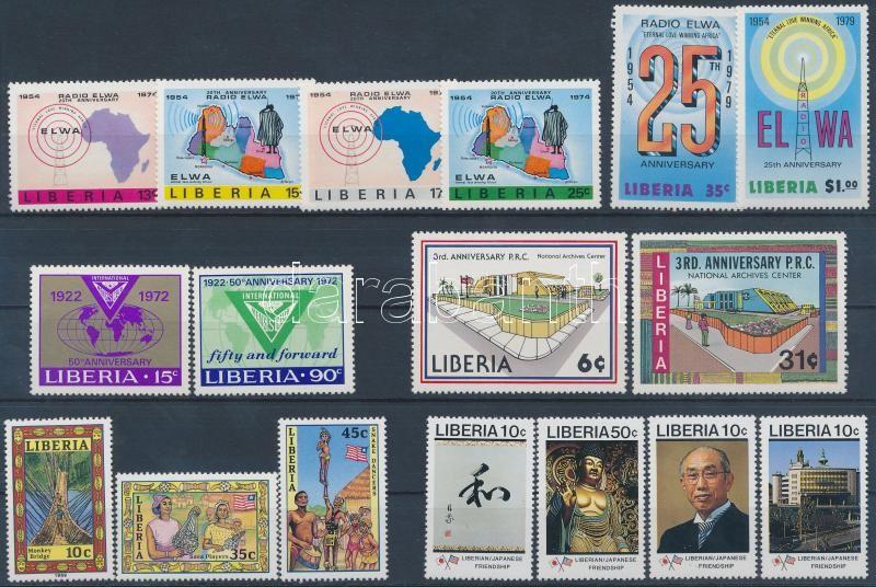 Liberia 6 diff. sets, Libéria 6 klf sor