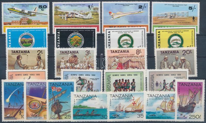 Tansania 5 diff. sets, Tanzánia 5 klf sor