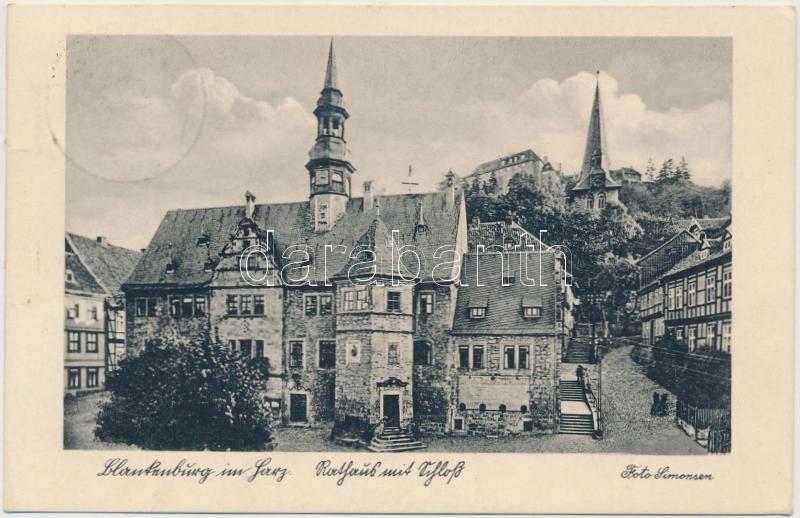 Blankenburg (Harz) Rathaus, Schloss / town hall, castle
