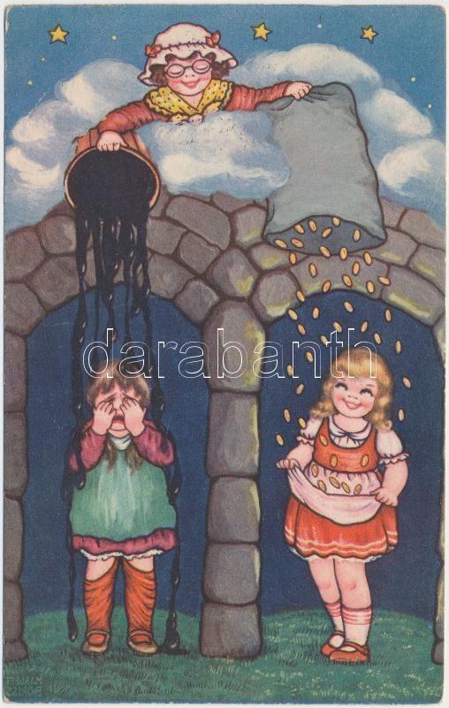 Mother Holle, fairytale, Amag 0407 s: Margret Boriss, Holle Anyó, mese, Amag 0407 s: Margret Boriss
