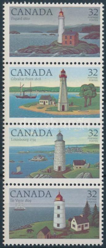 Világítótornyok négyescsík, Lighthouses stripe of 4