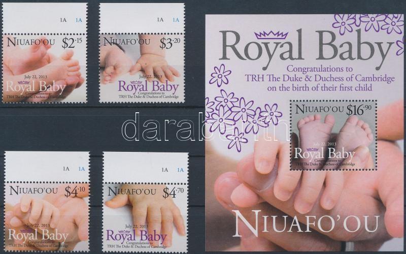 Royal Baby margin set + block, Royal Baby - A kis trónörökös ívszéli sor + blokk