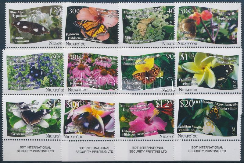 Butterflies margin set 12 values, Lepkék ívszéli sor, 12 érték