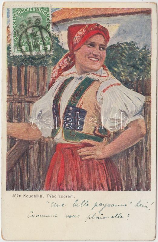 Cseh folklór s: Joza Koudelka, Before the porch, Czech folklore s: Joza Koudelka