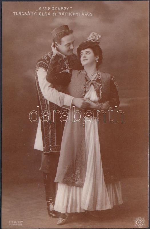 Turcsányi Olga Hungarian actress, Ráthonyi Ákos Hungarian actor, Turcsányi Olga és Ráthonyi Ákos, ' A víg özvegy'