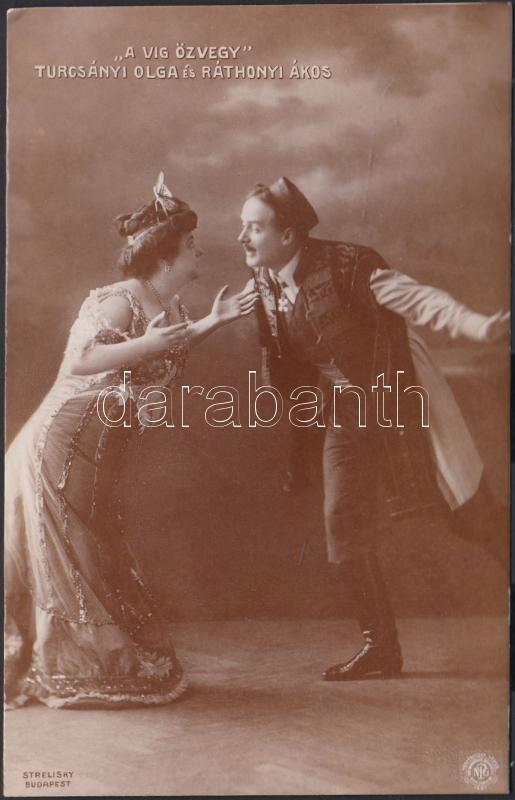 Turcsányi Olga és Ráthonyi Ákos, 'A víg özvegy', Turcsányi Olga Hungarian actress and Ráthonyi Ákos Hungarian actor