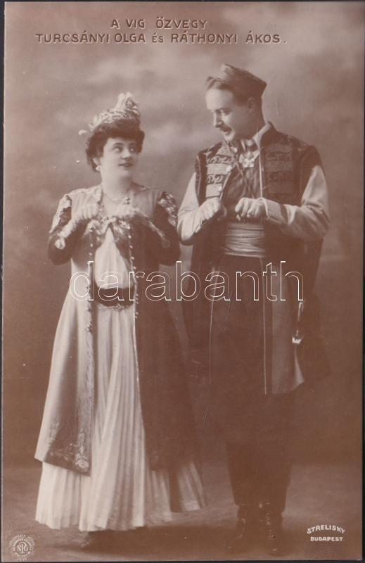 Turcsányi Olga és Ráthonyi Ákos, Turcsányi Olga Hungarian actress and Ráthonyi Ákos Hungarian actor