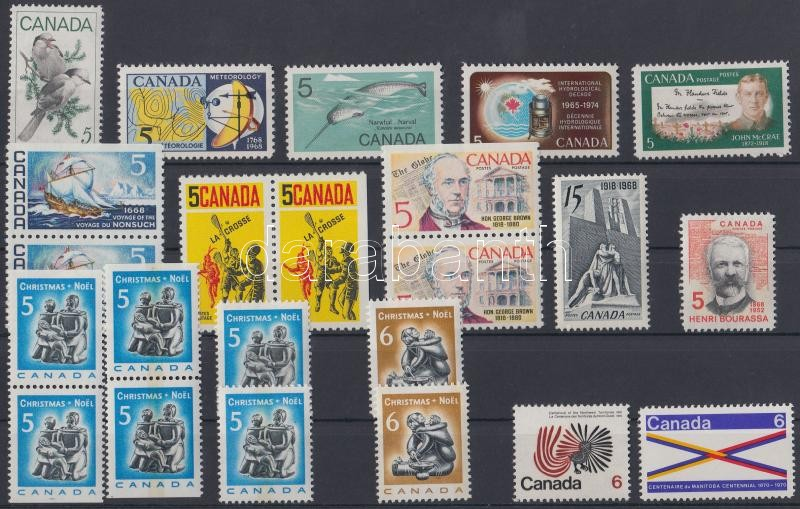 Complete year, with 5 pair + 1 set from 1970, Teljes évfolyam, benne 5 pár + 1970 1 sor