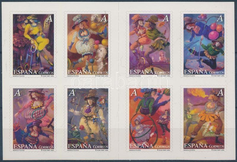 Circus self-adhesive stamp-booklet, Cirkusz öntapadós bélyegfüzet