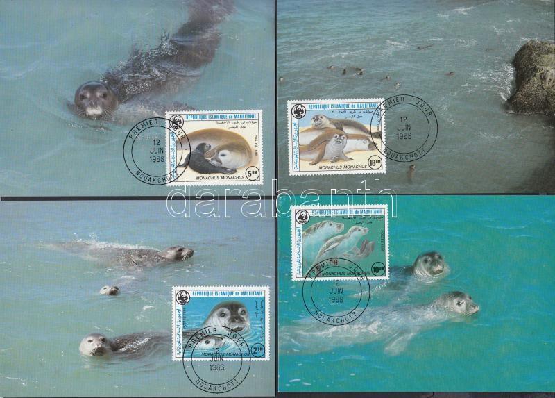 WWF Seals set on 4 CM, WWF fókák sor 4 CM