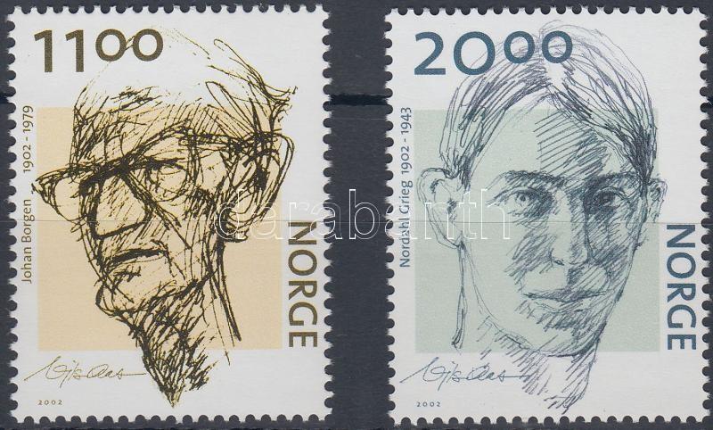 Birth centenary of Johann Borgen and Nordahl Grieg set, 100 éve született Johann Borgen és Nordahl Grieg sor