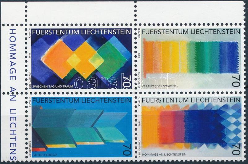 Contemporary art corner block of 4, Jelenkor művészet ívsarki négyestömb