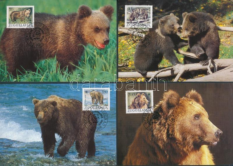 WWF Brown Bear set on 4 CM, WWF barna medve sor 4 CM-n