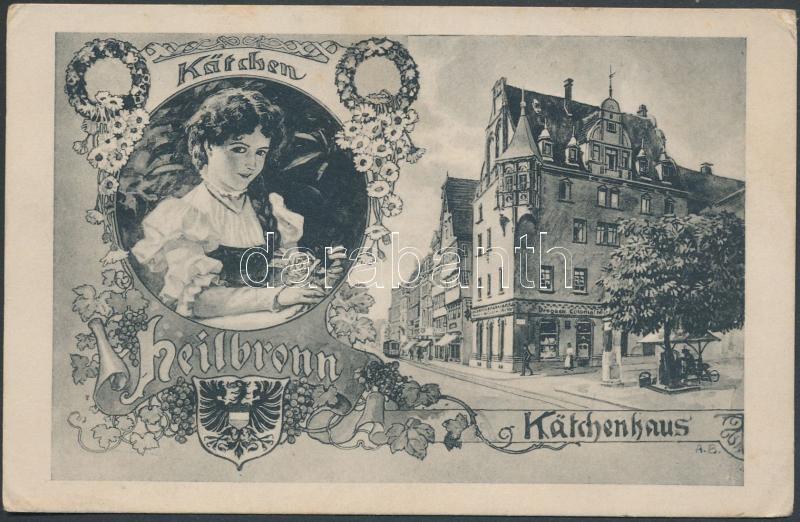 Heilbronn, Käthchenhaus, Kätchen / villa, coat of arms, grapes, Art Nouveau