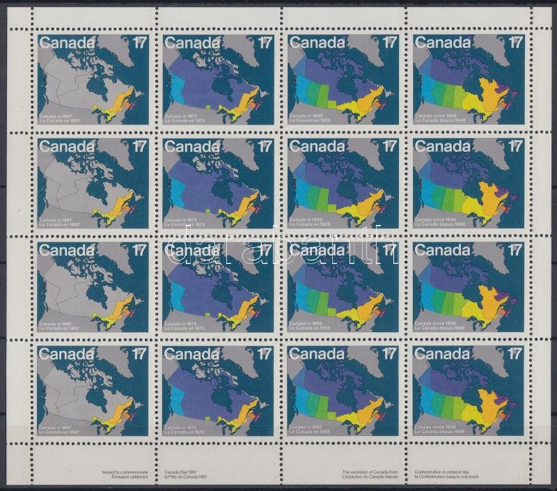 Day of Canadian minisheet, Kanadaiak napja kisív