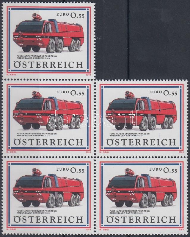 Cars (II) block of 5, Autók (II) ötöstömb