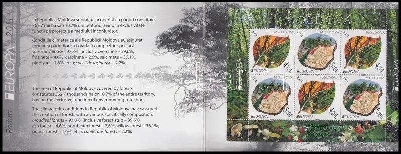 Europa CEPT Forest stamp-booklet, Europa CEPT Erdők bélyegfüzet