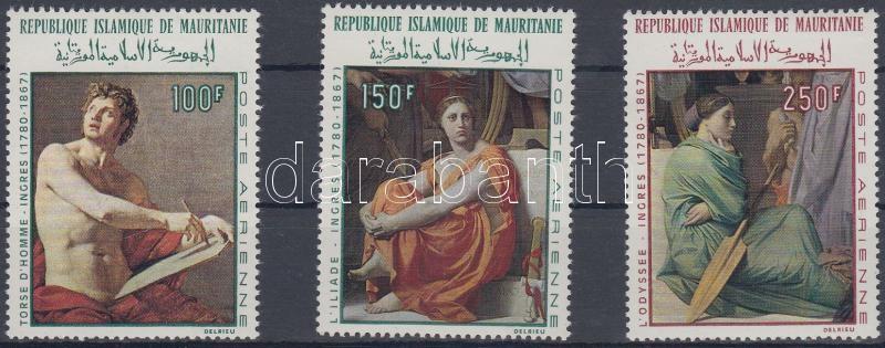 Dominique Ingres's death centenary set, 100 éve hunyt el Dominique Ingres festő sor