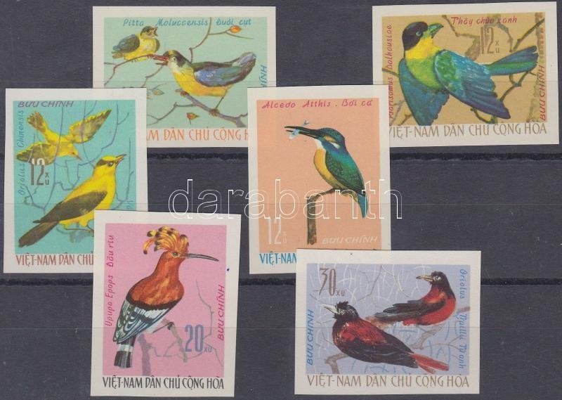 Native birds imperforated set, Őshonos madarak vágott sor