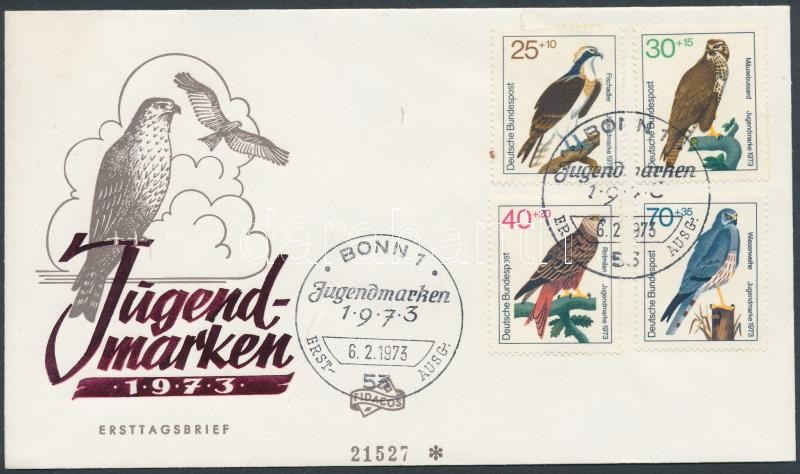 Birds of prey, Ragadozómadarak sor FDC