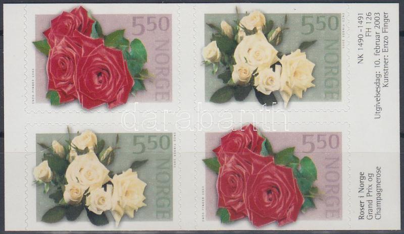 Roses stampbooklet sheet, Rózsák bélyegfüzetlap