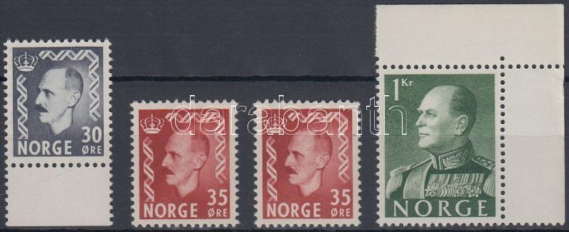 4 Definitive stamps, 4 db Forgalmi érték