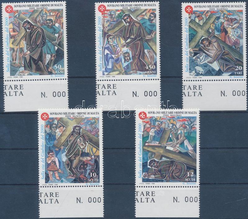 2000th anniversary of the Stations of the Cross margin set, A keresztút 2000. évfordulója ívszéli sor