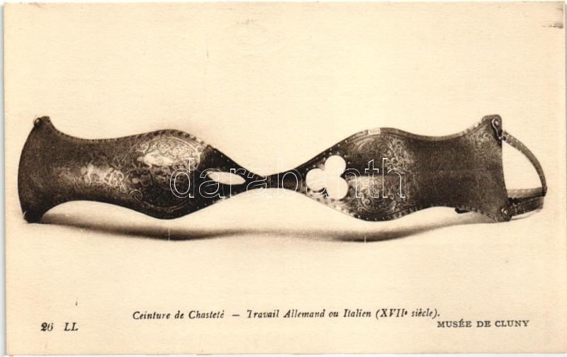 Chastity belt in the museum of Cluny, Paris, Erényöv a párizsi Cluny múzeumban