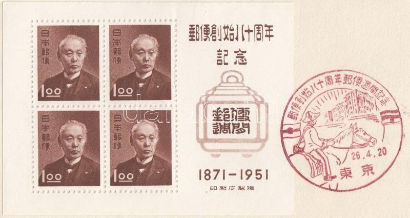 80th anniversary of the Mail Service Block memorial booklet, 80 éves a Postaszolgálat blokk emlékfüzet
