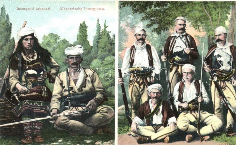 Insorgenti arbanasi / Albanian insurgents, Albán felkelők