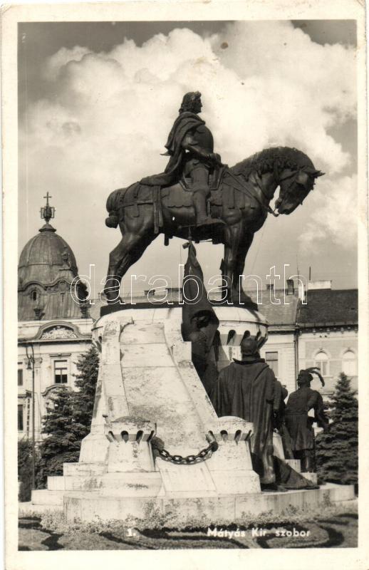 Cluj-Napoca, statue, Kolozsvár, Mátyás király szobor