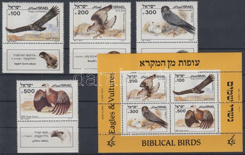 Biblical birds set with tab + block, Bibliai madarak tabos sor + blokk
