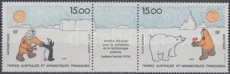 Francia sarkkutató intézet hármascsík, French polar institute stripe of 3